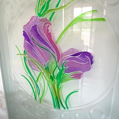 vetro personalizzato satinato