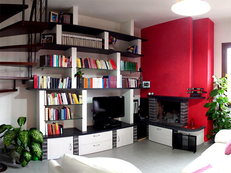 Msl polini arredamenti personalizzati mobile soggiorno for Parete salotto